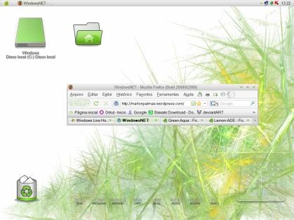 Firefox com skin