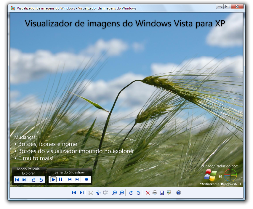 visualizador de imagem e fax do windows xp