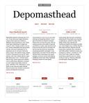 Página principal de um blog com o tema