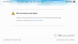 Nova página de erro do Windows Live, bonita não?