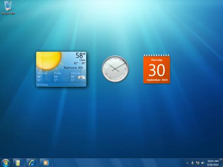 Agora, as gadgets ficarão soltas no Desktop
