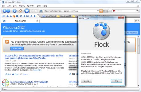 Leitor de RSS do Flock 2.0
