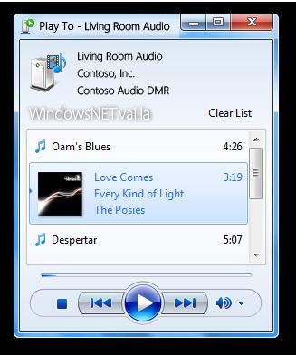 Esse é o Play to, um novo recurso do Windows Media Player 12, que eu não sei detalhar pra que é