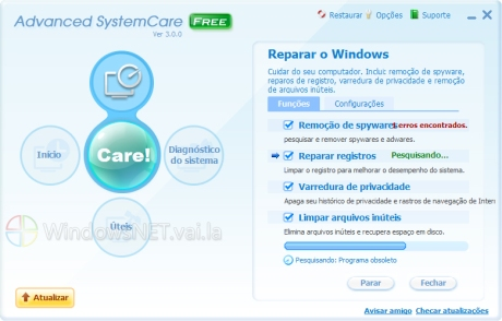 Nova interface do Advanced SystemCare