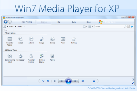 Visual do Windows Media Player 12 do 7 no XP!