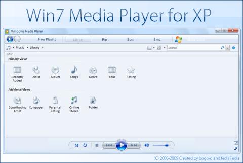 Visual do Windows Media Player 12 do 7 no XP!