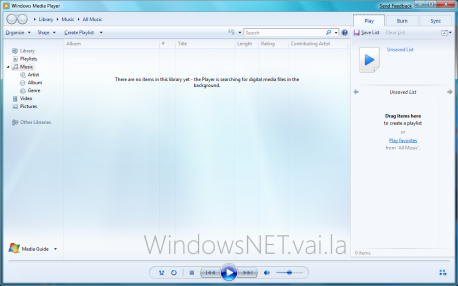 Windows Media Player - Executar