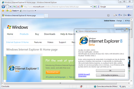 Internet Explorer 8 Beta 2