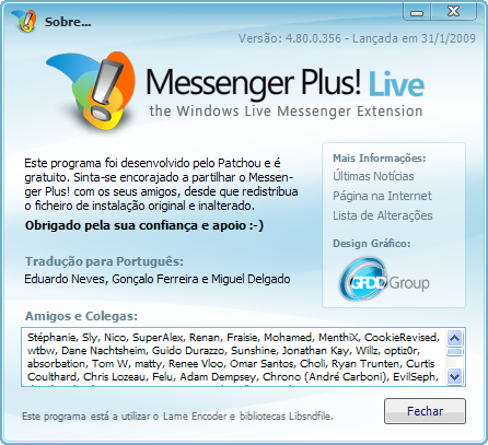 Messenger Plus Live 4.80