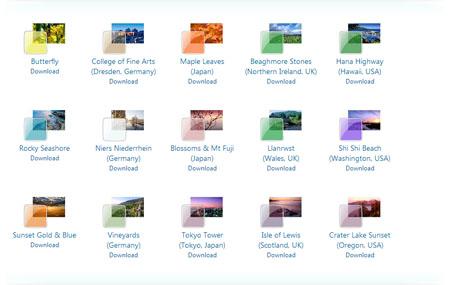 Temas para Windows 7. Clique para acessar a página