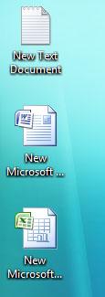 Arquivos criados na área de trabalho do Windows com o Safeguard habilitado. Permanecerão lá até que o usuário faça logoff