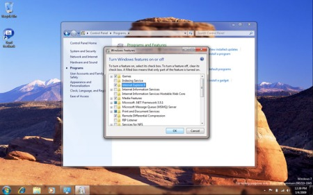 Ativar e desativar recursos no Windows 7
