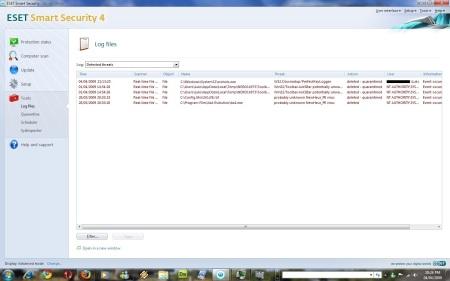 Log do ESET Smart Security