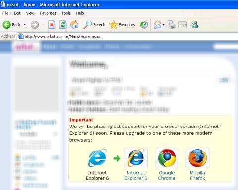 Este navegador é ruim demais pra nós dois.