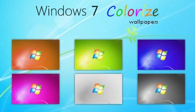 Wallpaper do Windows 7 em 6 cores diferentes