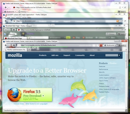 Firefox 3.5 com visual do 4.0