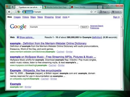 Mockup do Firefox 4