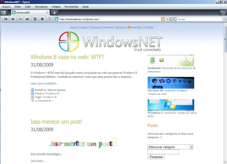 WindowsNET no Opera 10