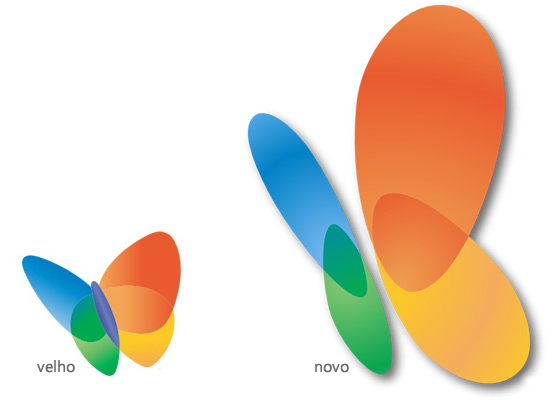 Logo do MSN: Antigo x Novo