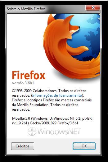 Sobre o Mozilla Firefox